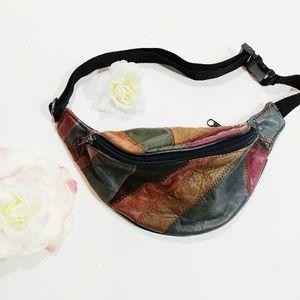 Handbags - Patchwork Fanny Pack/ Hip Bag